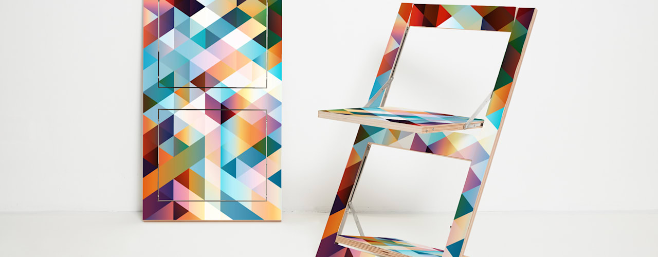 Fläpps Folding Chair por AMBIVALENZ Minimalista