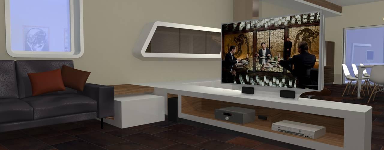 Salones modernos de Stefano Costantino Architetto Moderno