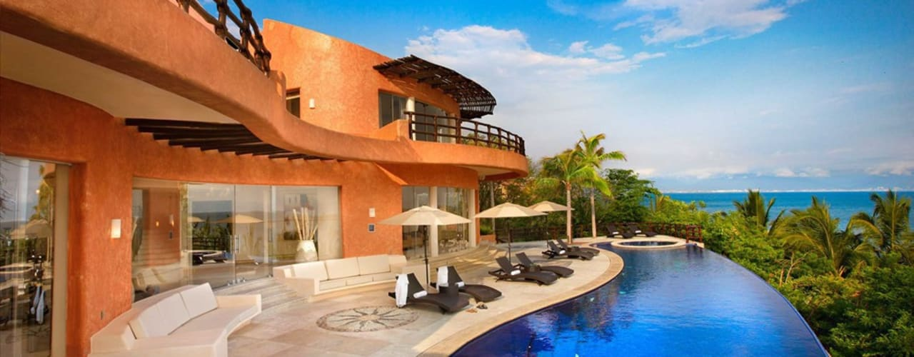 Mariposa House Tropical style houses by arqflores / architect Tropical