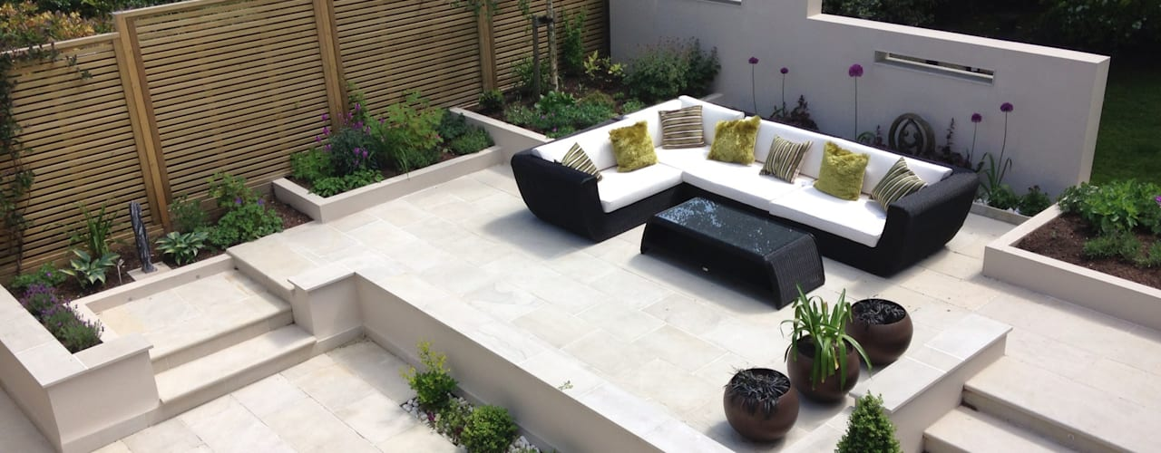 Contemporary Split level terrace Jardines de estilo moderno de Gardenplan Design Moderno