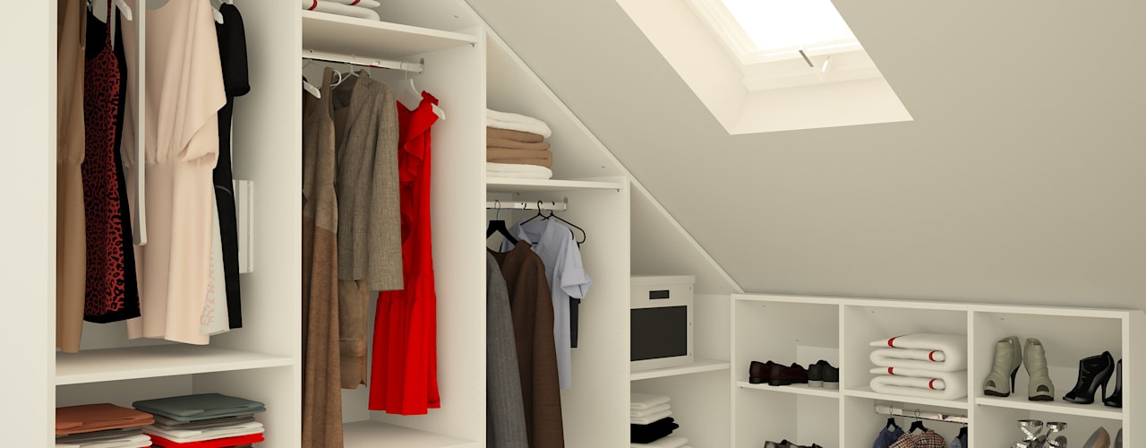 Dressing room by meine möbelmanufaktur GmbH, Modern