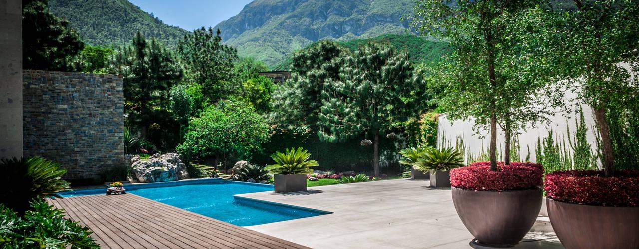 Casa Villarreal Jardines modernos de Urban Landscape Moderno
