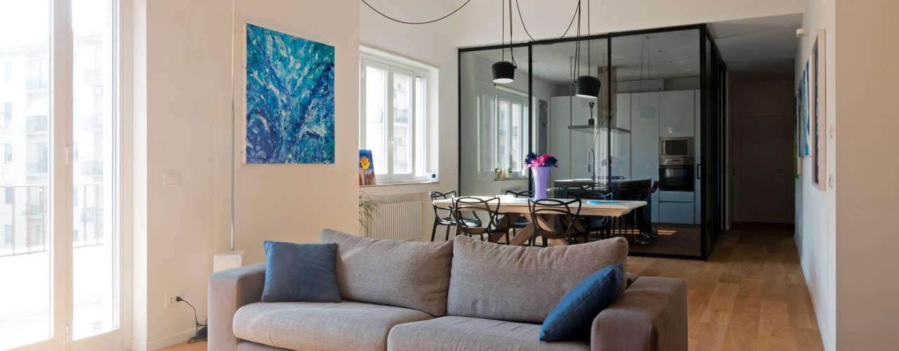 Casa A1 Soggiorno moderno di Studio Associato 3813 Moderno