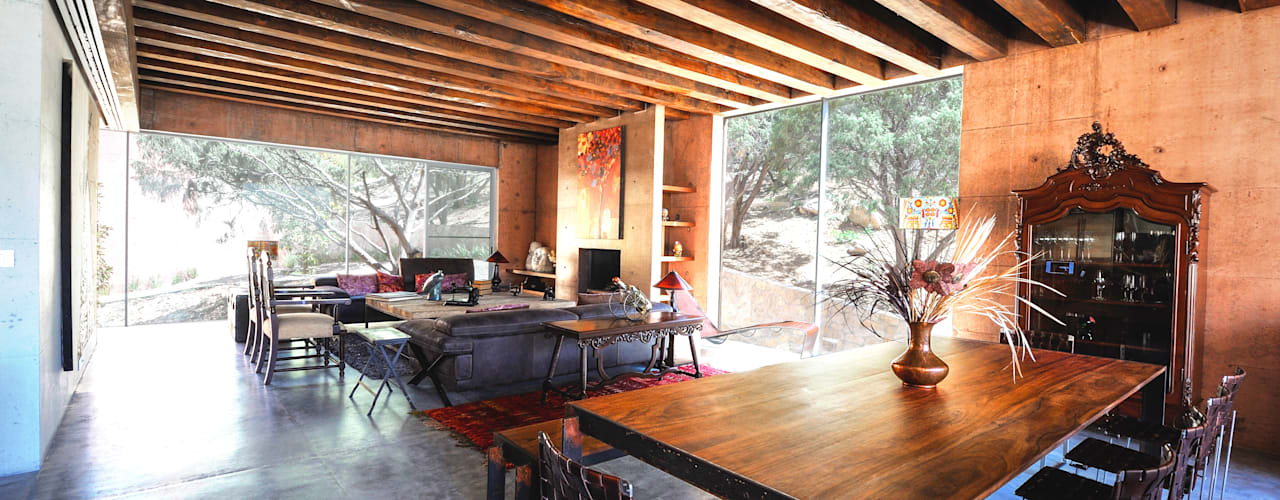 Narigua House P+0 Arquitectura Rustic style dining room