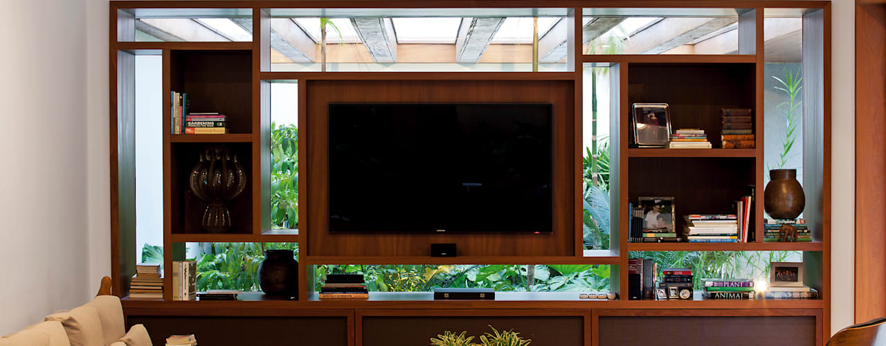Медиа комнаты в . Автор – Pascali Semerdjian Arquitetos