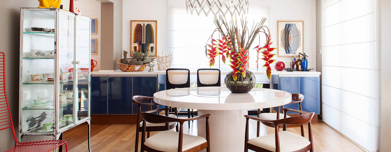 Eclectic style dining room by Mauricio Arruda Design Eclectic