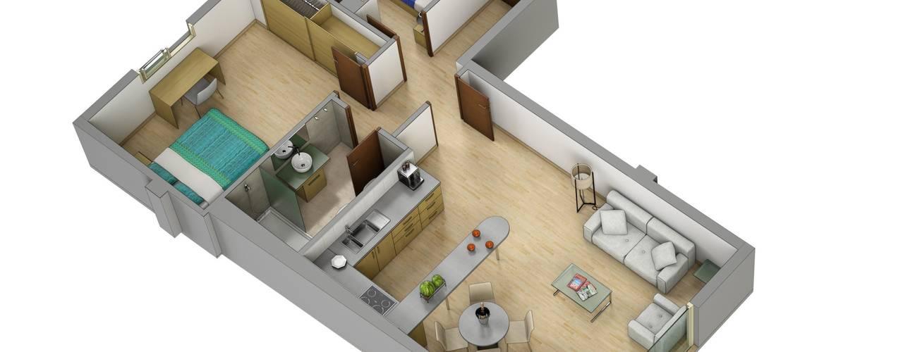 منازل تنفيذ Realistic-design