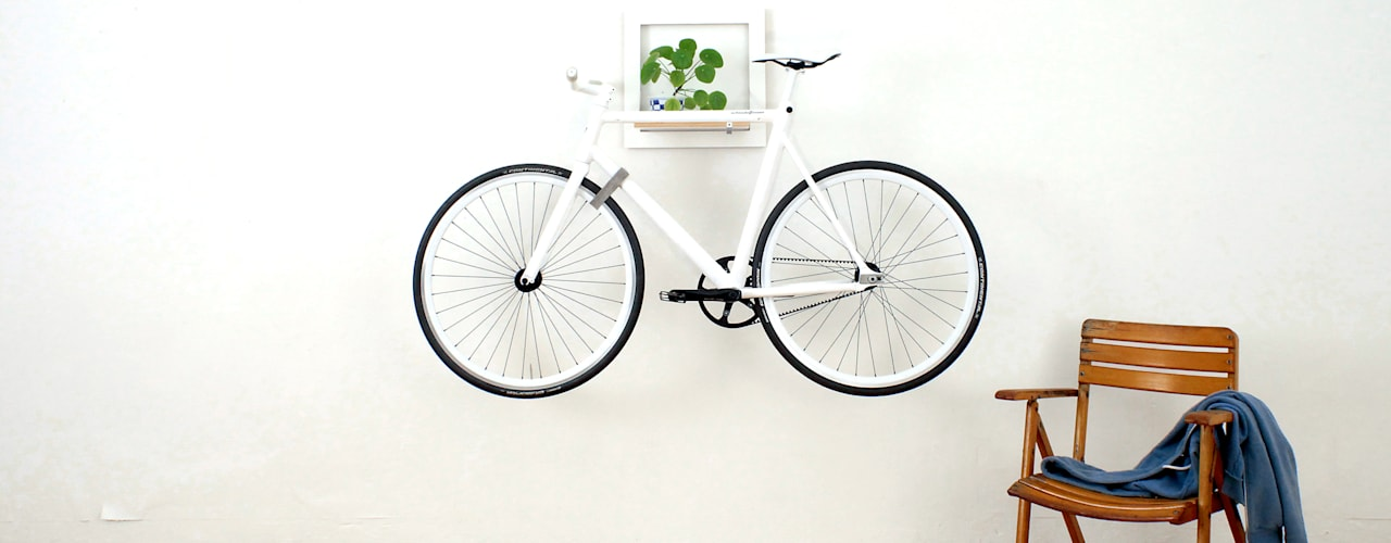 SLÎT – weiß:   von MIKILI – Bicycle Furniture