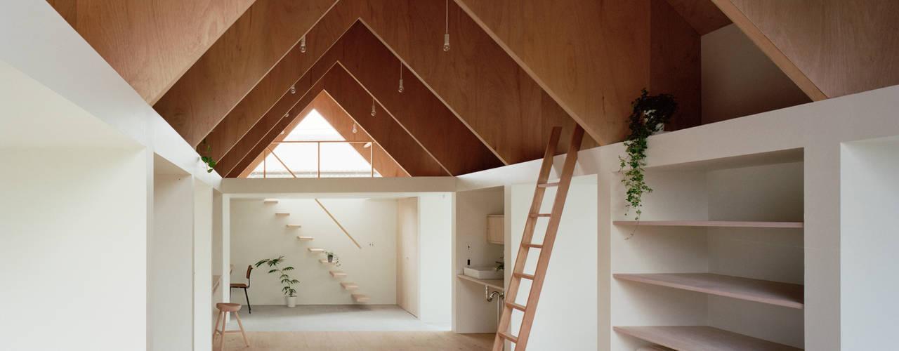 コヤノスミカ ミニマルデザインの 書斎 の ma-style architects ミニマル