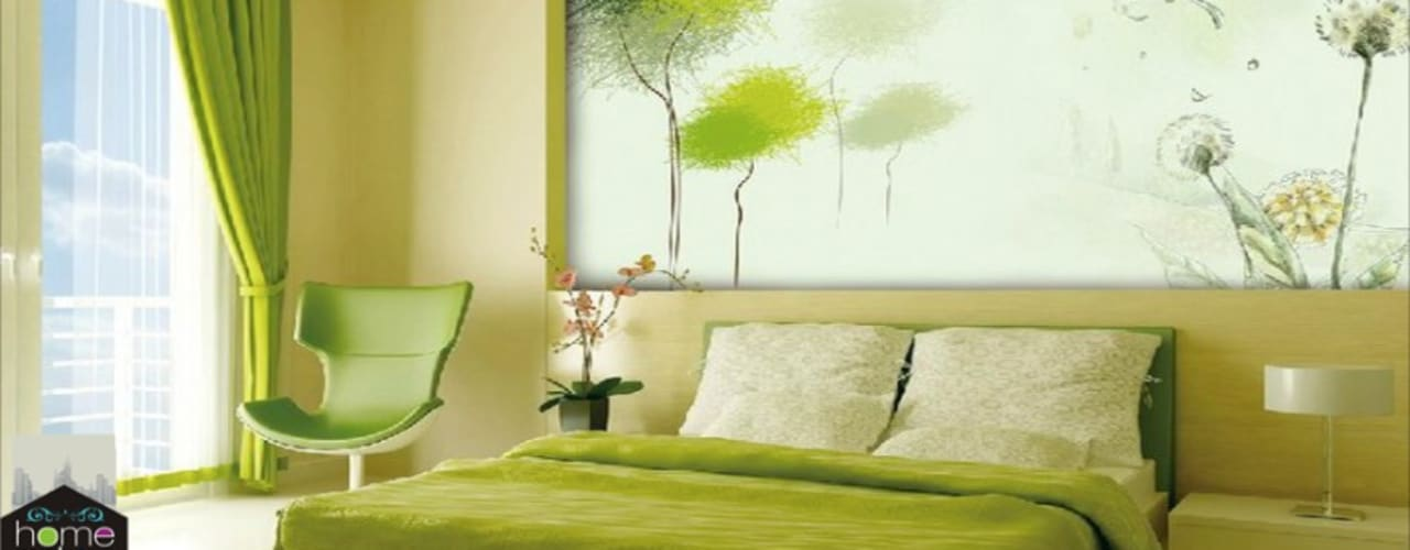 Ultra-modern and 'never seen before' art only by home makers:  Bedroom by home makers interior designers & decorators pvt. ltd.