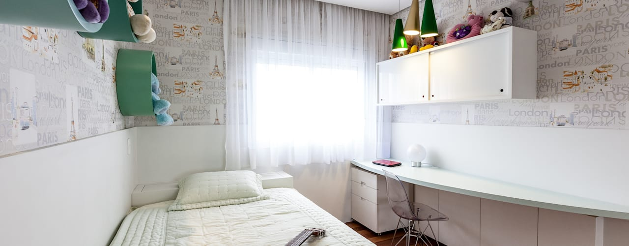 غرفة نوم تنفيذ Tikkanen arquitetura, حداثي