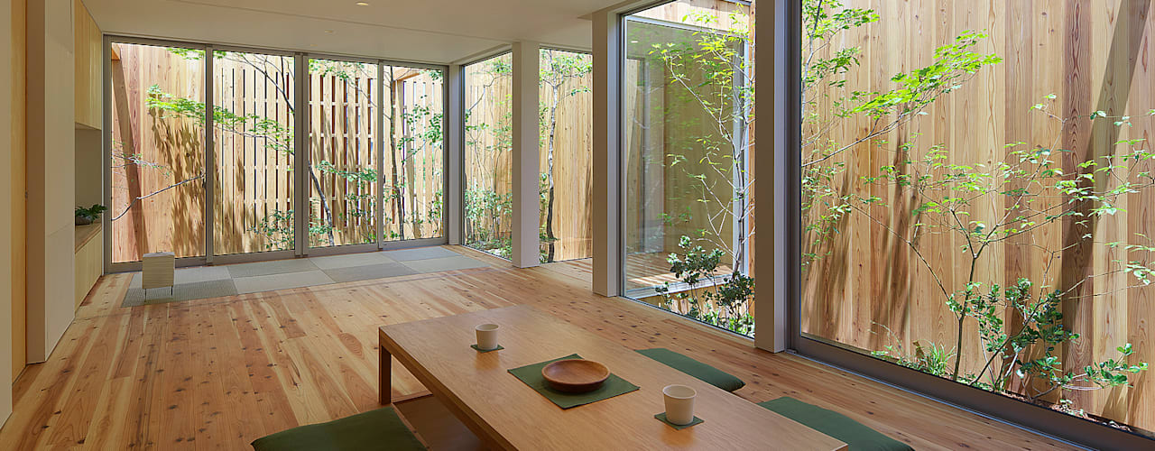 House of Nishimikuni Nowoczesny salon od arbol Nowoczesny