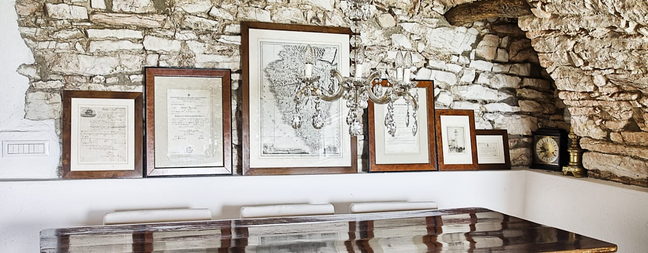Salones rústicos de estilo rústico de STUDIO PAOLA FAVRETTO SAGL - INTERIOR DESIGNER Rústico