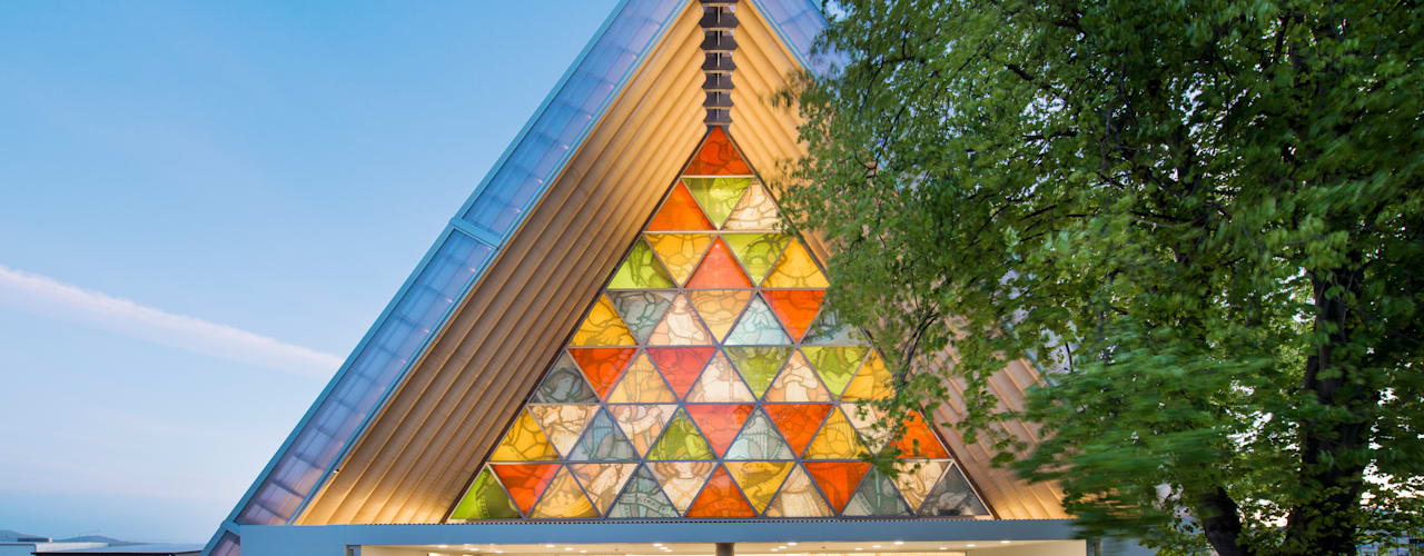 Cardboard Cathedral Christchurch Rooms by 坂茂建築設計 (Shigeru Ban Architects)