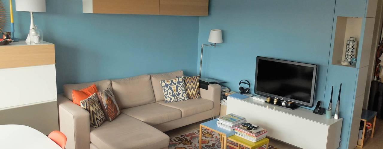 ห้องนั่งเล่น by Espaces à Rêver