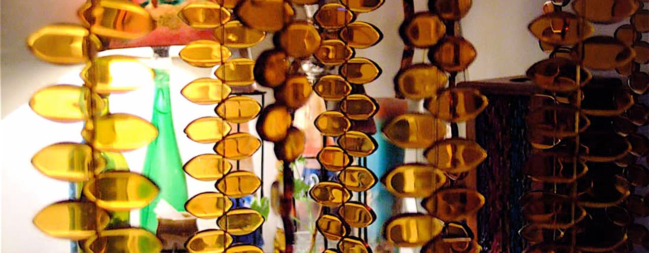 Topaz Leaf Bead Curtain:   by Memories of a Butterfly: bead curtains/screens/installations/Hanging Sculptures,