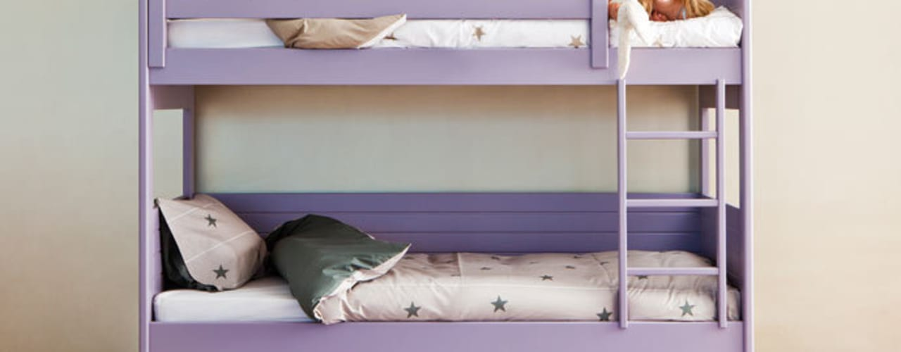 Litera con cama nido para habitaciones pequeñas de Sofás Camas Cruces Moderno