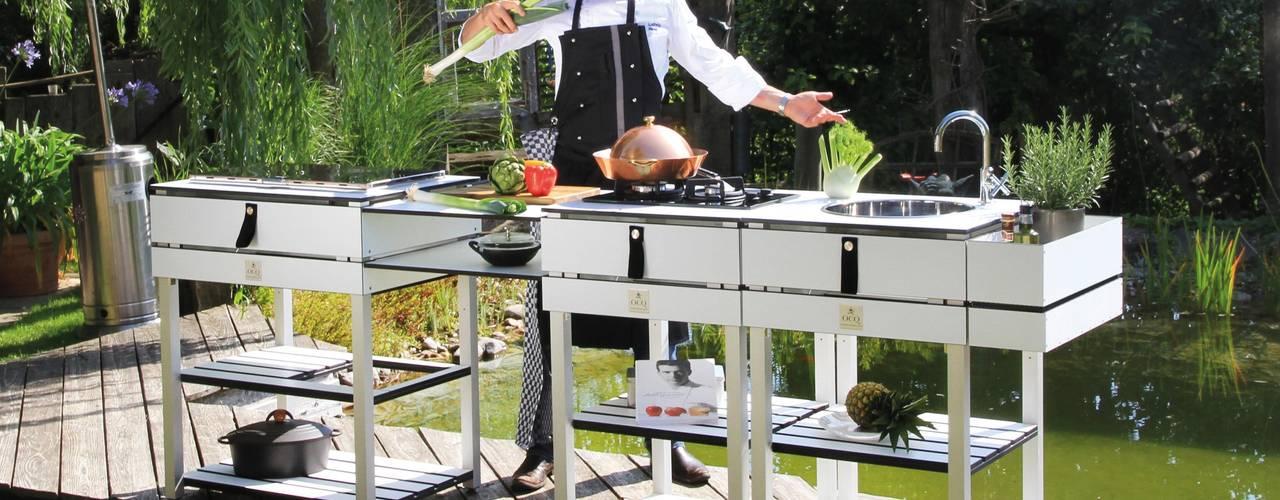 The modular Outdoor Kitchen OCQ - Outdoor Cooking Queen Balconies, verandas & terraces Furniture