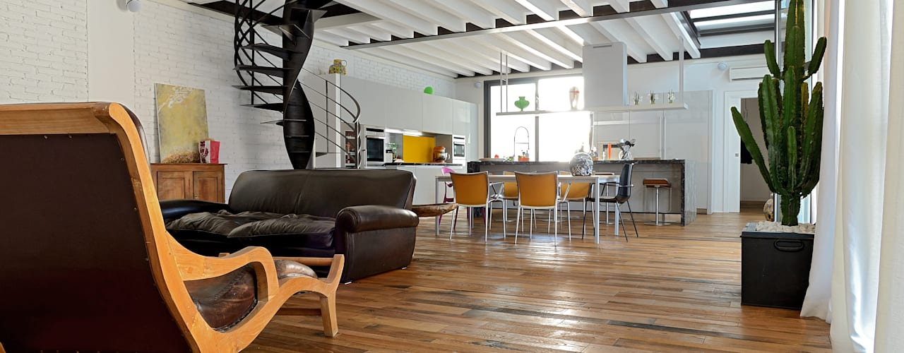 Endüstriyel Oturma Odası Massimo Adiansi Architetto Endüstriyel