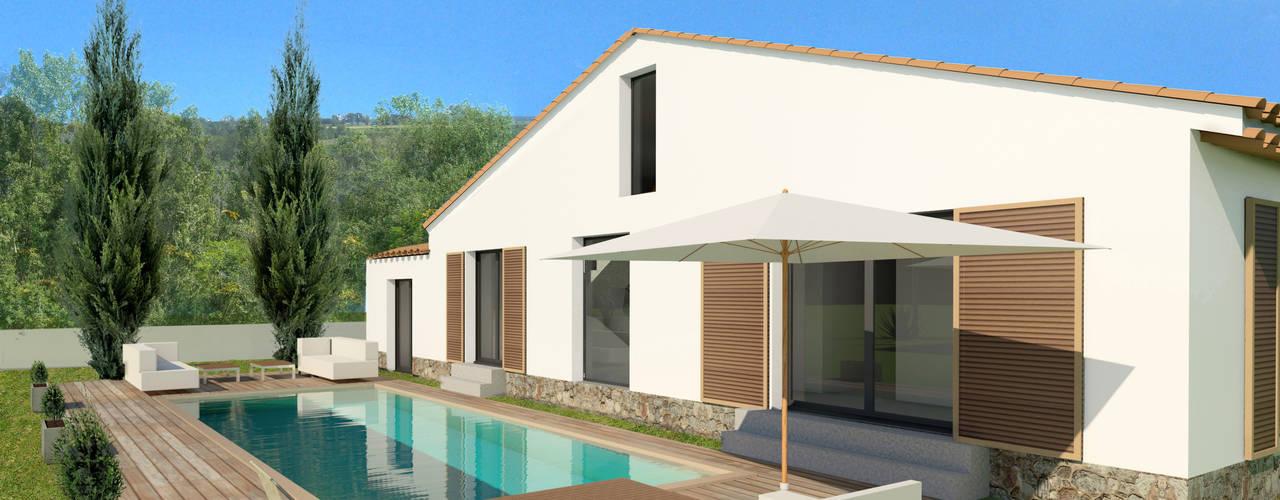 Maison individuelle, Saint-Tropez (83), 2014 - Réhabilitation - 100 m² ERIC SANTOS • ARCHITECTURE Maisons méditerranéennes