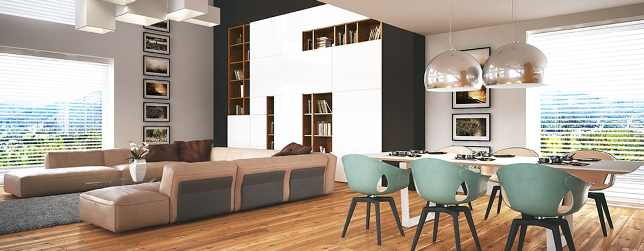 Гостиная в стиле модерн от LK & Projekt Sp. z o.o. Модерн