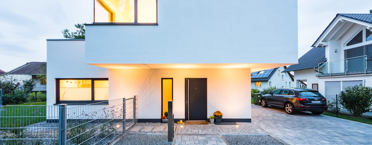Balance House - Single Family House in Weinheim, Germany Casas modernas: Ideas, imágenes y decoración de Helwig Haus und Raum Planungs GmbH Moderno