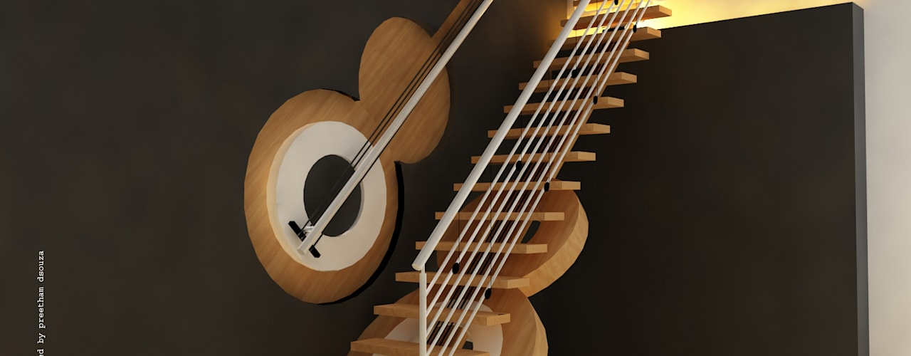 Modern corridor, hallway & stairs by Preetham Interior Designer Modern