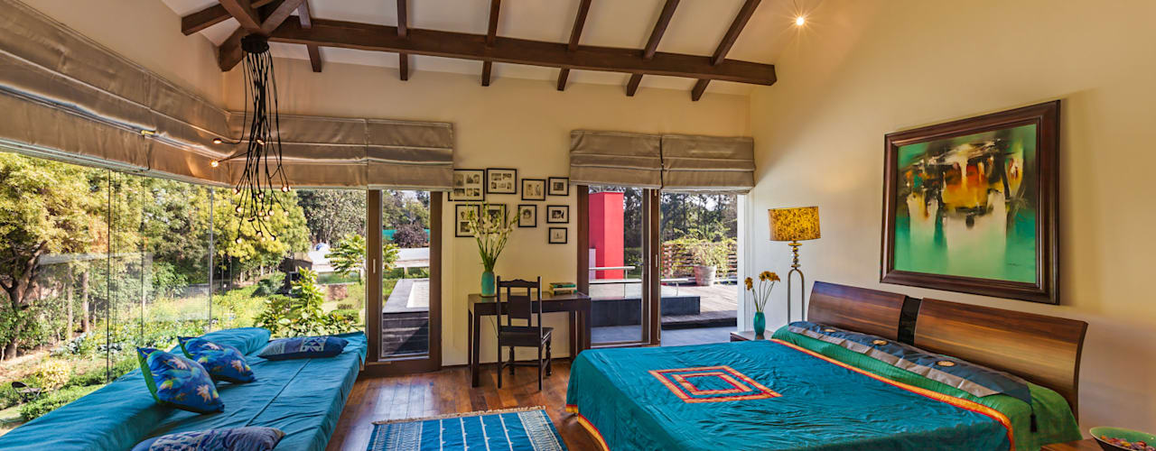 G Farm House Eclectic style bedroom by Kumar Moorthy & Associates Eclectic