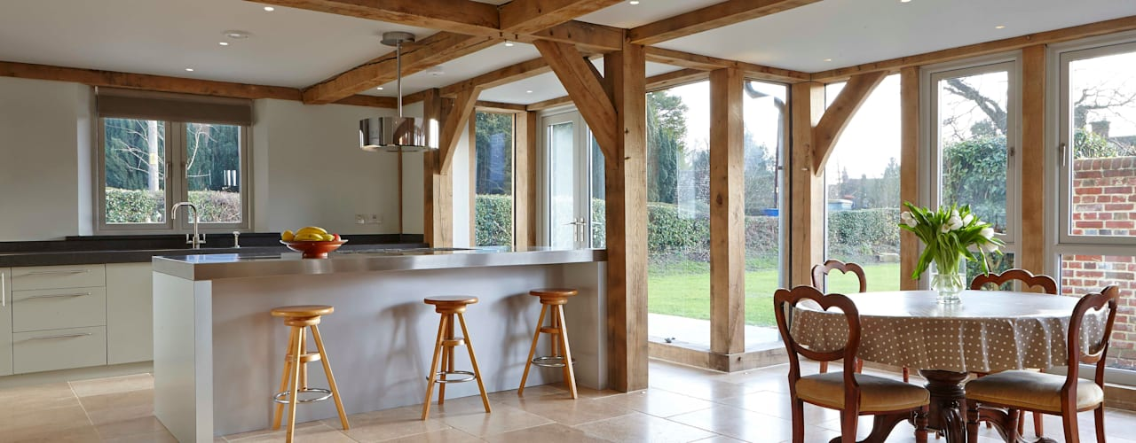 Stable Cottage, Liss Salas de jantar campestres por Adam Coupe Photography Limited Campestre