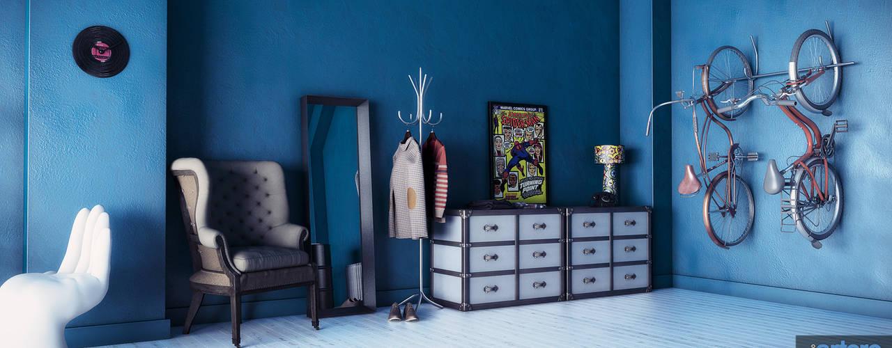 Projekty,  Salon zaprojektowane przez Studio Artere