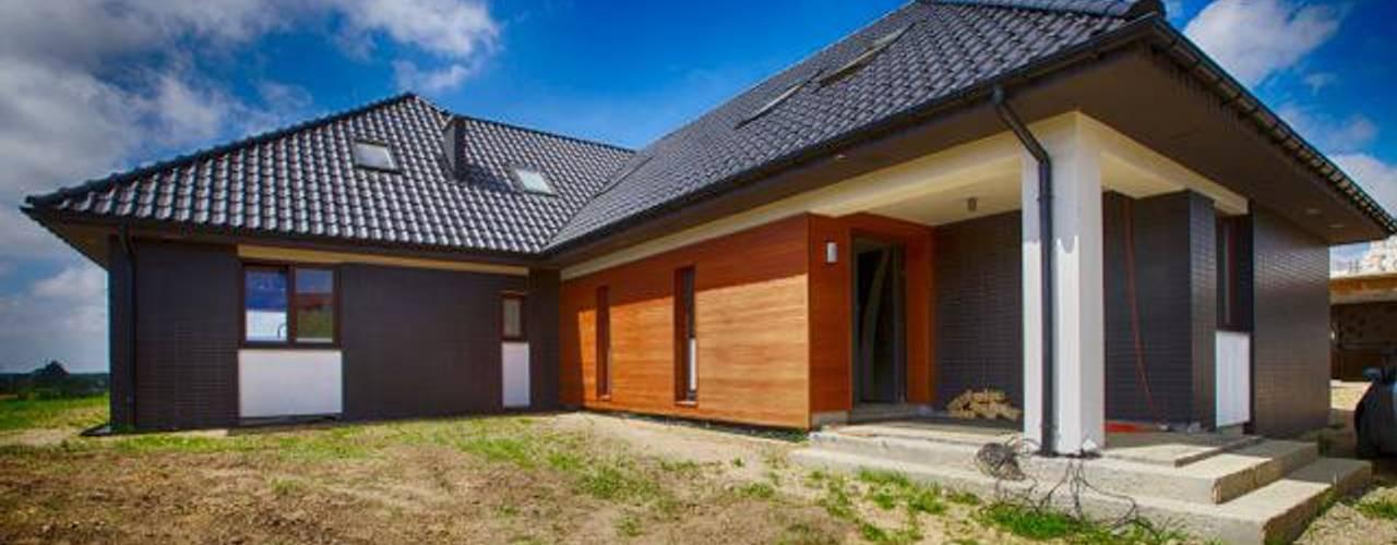 Дома в стиле модерн от Studio Projektowe Projektive Модерн