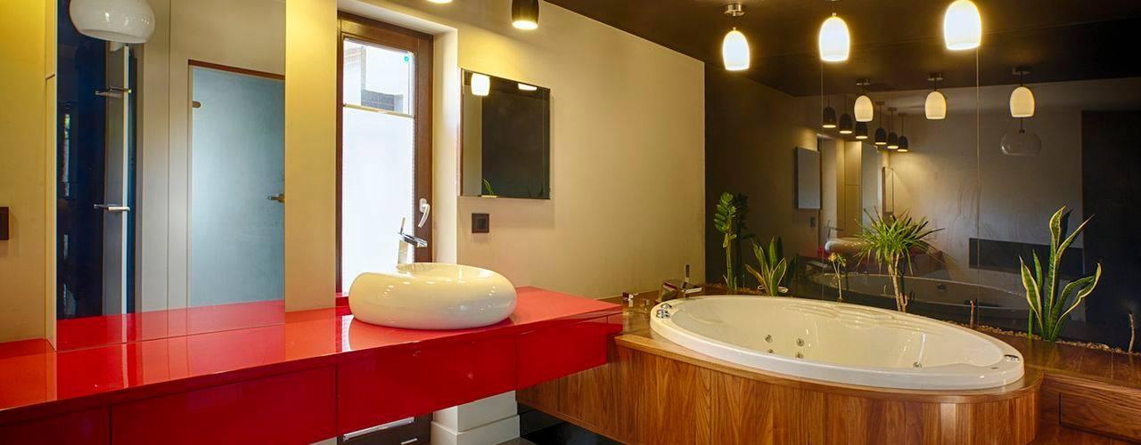 Phòng tắm theo Studio Projektowe Projektive,