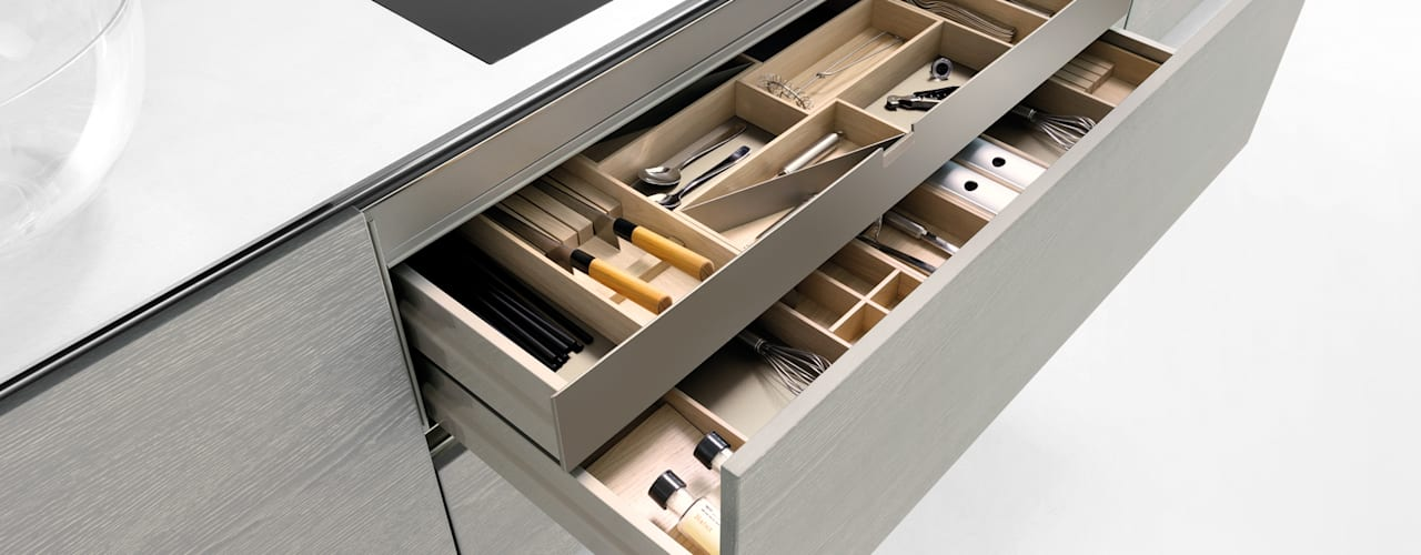 Storage options to make life easier:   by fit Kitchens