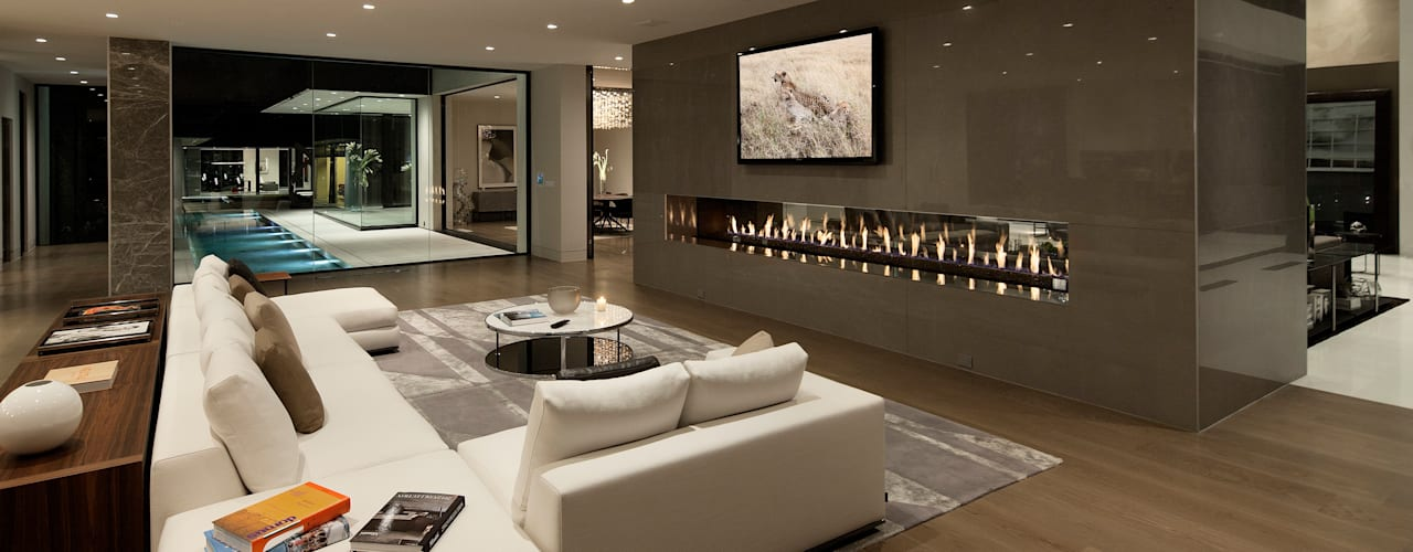 SUNSET STRIP RESIDENCE Гостиная в стиле модерн от McClean Design Модерн