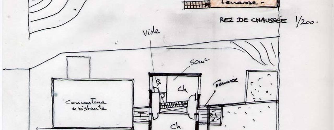 Casas modernas de Atelier d'Architecture Marc Lafagne, architecte dplg Moderno
