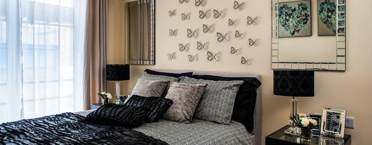 Show flat in London, The Cubitt, Battersea Modern style bedroom by Lujansphotography Modern