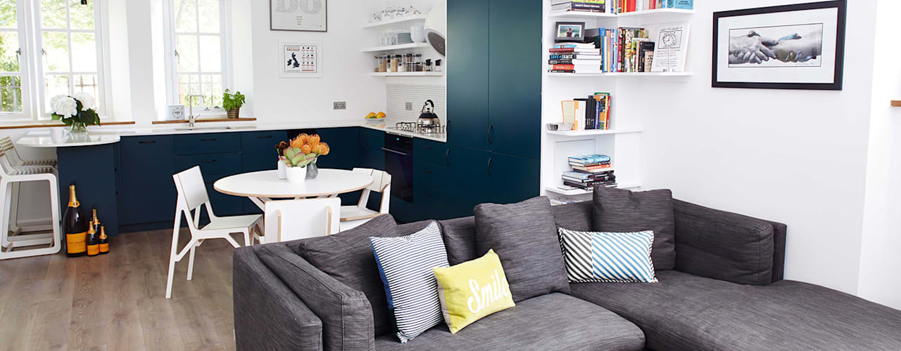bright & airy flat : hoxton Modern living room by Cassidy Hughes Interior Design Modern