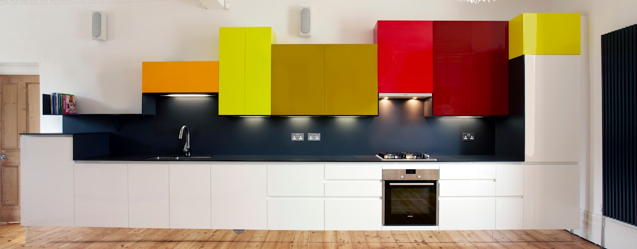 East London Apartment Draisci Studio Dapur Modern