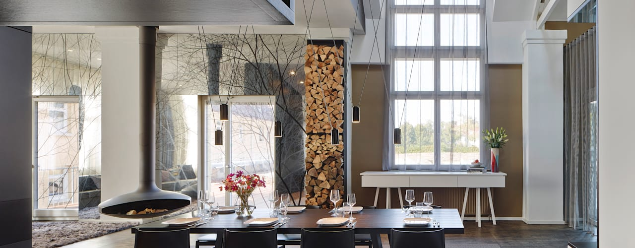 Loft ESN Столовая комната в стиле модерн от Ippolito Fleitz Group – Identity Architects Модерн