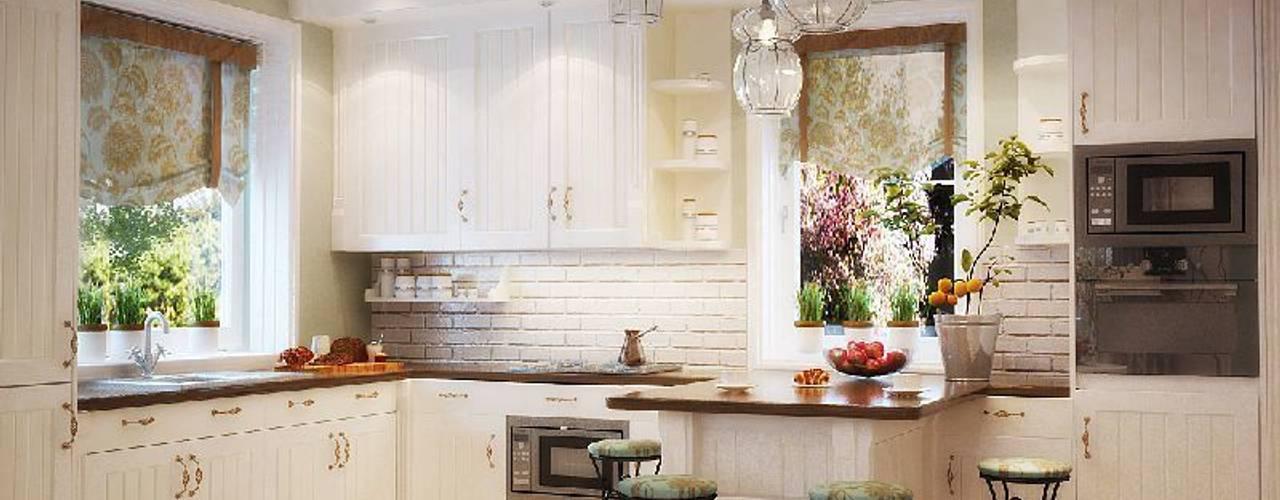 Nhà bếp phong cách kinh điển bởi студия Design3F Kinh điển