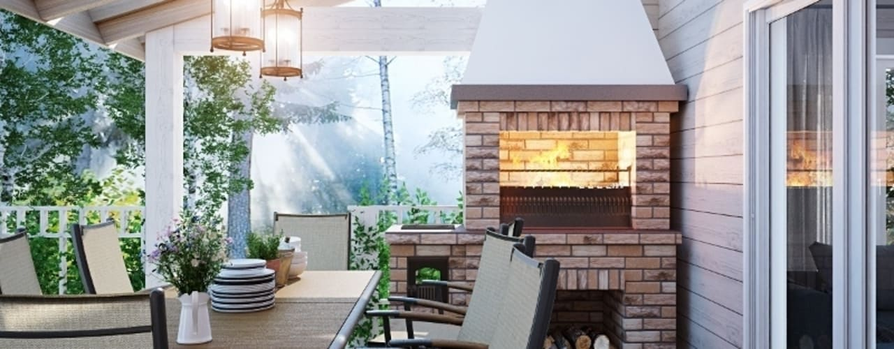 Terrazas  de estilo  por студия Design3F