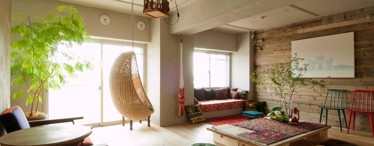 ห้องนั่งเล่น โดย TATO DESIGN:タトデザイン株式会社, เมดิเตอร์เรเนียน