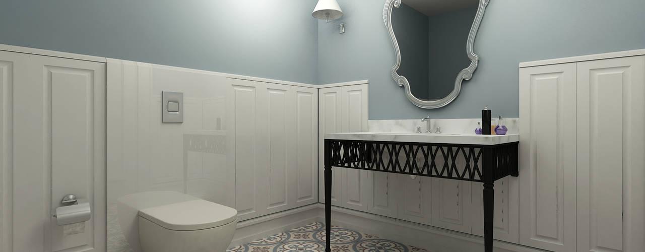 Niyazi Özçakar İç Mimarlık – M.A. EVİ:  tarz Banyo,