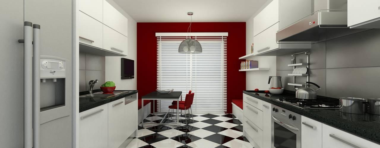 METROKENT BURSA 3+1 Modern Mutfak Niyazi Özçakar İç Mimarlık Modern