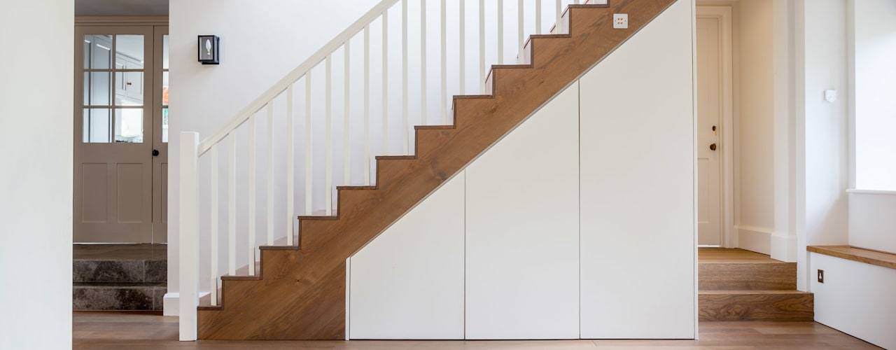 Stairs: modern Living room by Whitaker Studio