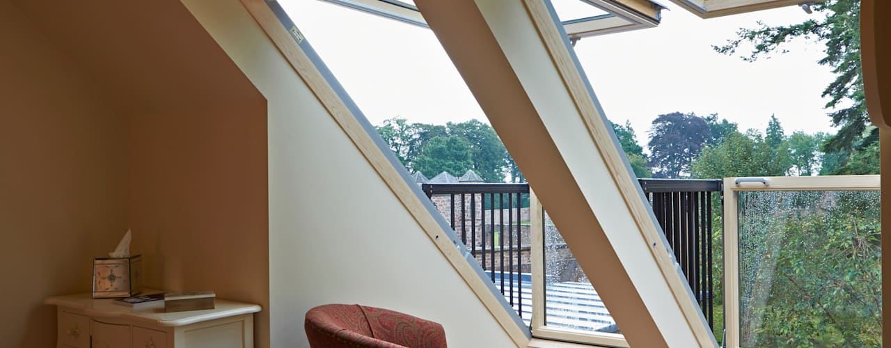 Balcony Windows:  Windows  by Architects Scotland Ltd