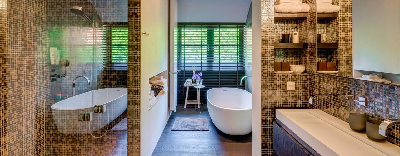 Wegdromen met een houten vloer in je badkamer: 17 schitterende ...