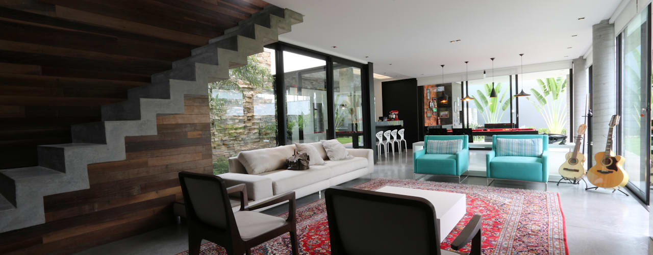 minimalistic Living room by ZAAV Arquitetura