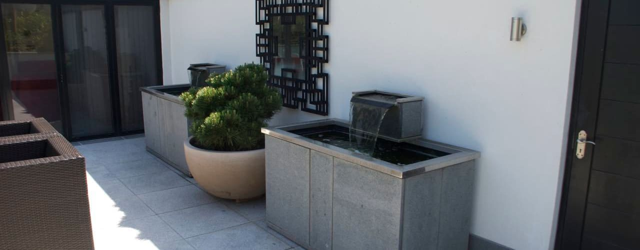 Bespoke water features - pair of stone troughs Oleh Barry Holdsworth Ltd