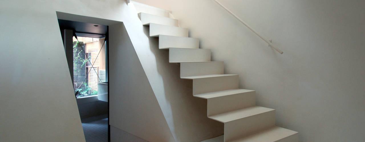 天沼の家 モダンスタイルの 玄関&廊下&階段 の M+2 Architects & Associates モダン